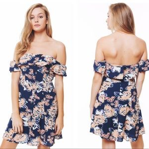 Lovers + Friends Vineyard Floral Mini Dress Large